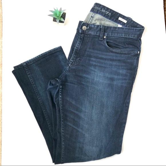 Calvin Klein jeans dark wash slim straight…
